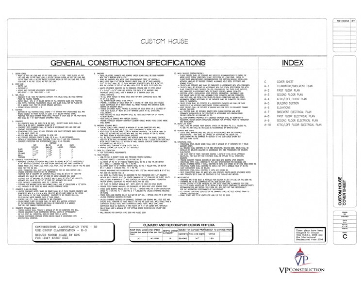 attic/loft electrical plan  general specifications